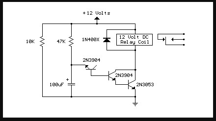 RANGKAIAN SIMPLE SWITCH ON TIME DELAY CIRCUIT